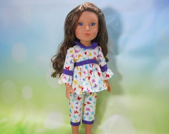 14.5 doll clothes, Made to fit Wellie Wishers Doll,  14.5 inch Doll Dress, 14 inch doll dress, 14 inch doll outfit, , 02-2744