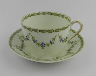 Cup with saucer Demitasse Theodor Haviland Limoges France 1894