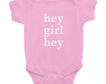 Infant hey girl hey one piece