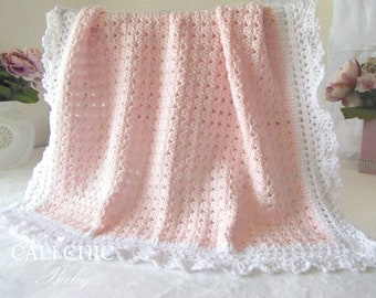 Crochet PATTERN 41 - Angel Series - Crochet Baby Blanket Pattern 41 - Instant Download PDF