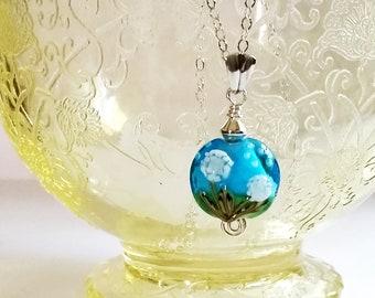 Dandelion Necklace, Sterling Silver Necklace, Dandelion Pendant Necklace, Gift for Her, Gifts