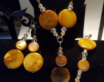 Tigers Eye Jewellery Set.