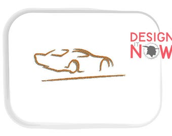 Auto Racing Machine Embroidery Design