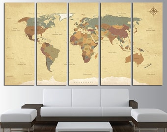 Antique world map etsy vintage world map old world map antique world map map canvas world map wall art world gumiabroncs Gallery
