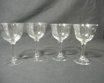 Vintage 3 oz Cordial Glasses. Set of 4