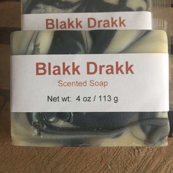 Blakk Drakk Scented Cold Process Soap with Shea Butter for Men