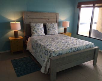 Queen bed headboard and footboard