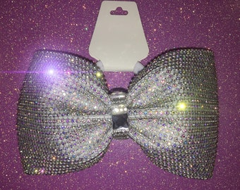 4 Inch Tailless fully Rhinestoned Cheer Bow
