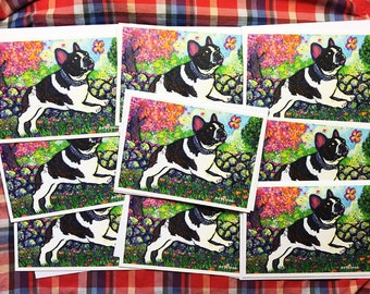 French Bulldog Springtime Greeting Card Set by Mister Reusch