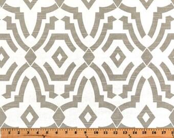 Ecru Chenille - 1 YARD  - Home Decor Slub Fabric  - Premier Prints  - Taupe White
