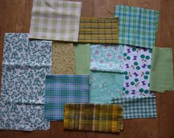 set of 180 patchwork fabrics coupons