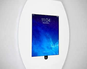 Wall Mounting iPad Surround | Ipad Holder | Wall Mounted | White Acrylic |