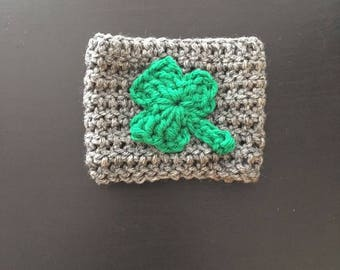 Shamrock Cup Cozie, Cup Holder, Good Luck, St Patrick's Day, St Patty's Day