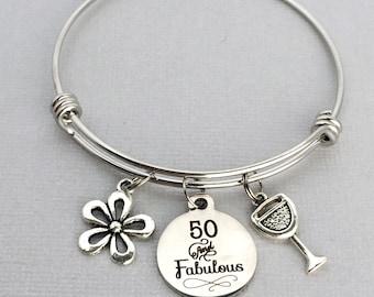 Special Sister 50th Birthday Charm Bracelet with Gift Box Women's Jewellery kXDXfIEaDO
