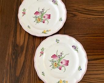 SPODE MARLBOROUGH SPRAYS Dinner Plates - Spode England Dinner Plates - Marlborough Sprays Tulips & Spode dinner plates   Etsy