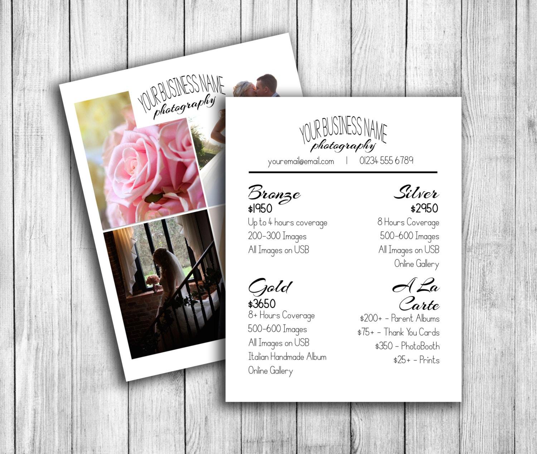 Fotografía de boda precios de plantilla, guía de precios para los ...