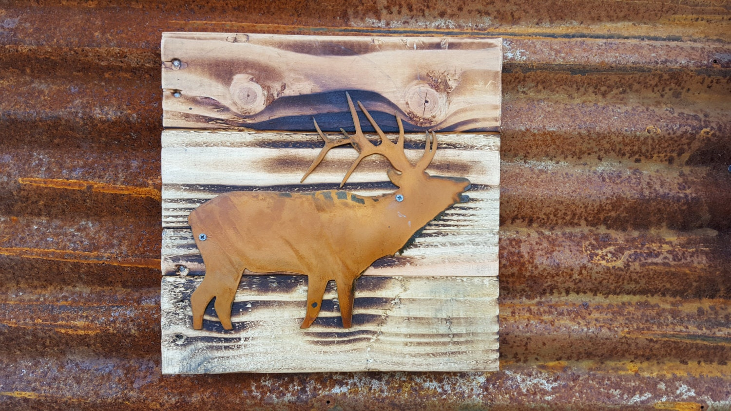 Hunters Man Cave Signs : Hunting fishing sign elk buck bass outdoor rustic decor farmhouse