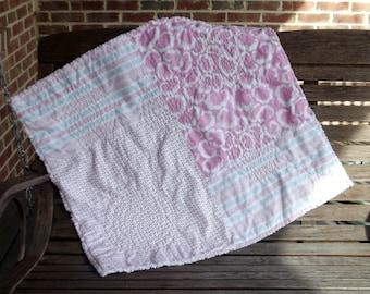 Pink Swirls Baby Girl Quilt