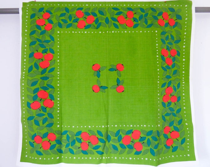 Vintage Scandinavian Tablecloth Apples