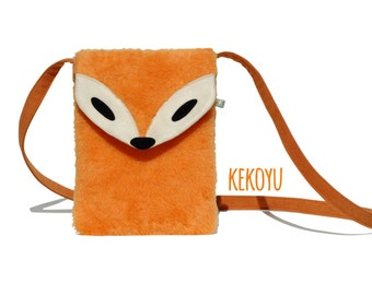 Crossbody Bag Sir Fox Plush Orange / Messenger Bag Handbag Fox Bag Handmade Purse Small Bag