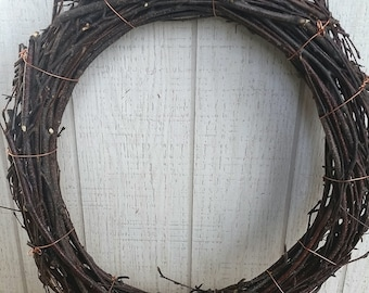 Birch Vine Wreath DIY Family Tree Birch Disk