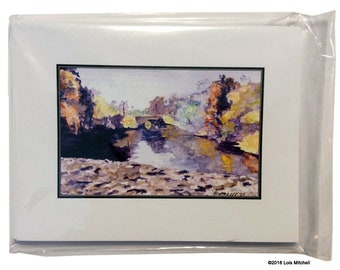 Greeting Cards, Mystic River in Fall