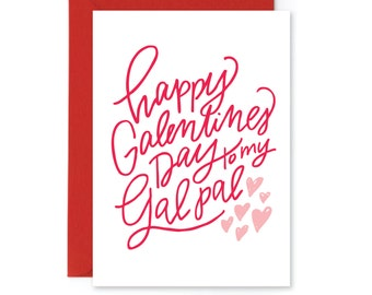 Galentines Printable Valentine Card - Happy Galentines Day - Valentines Printable - Gal Pal - Printable Greeting Card - Instant Download