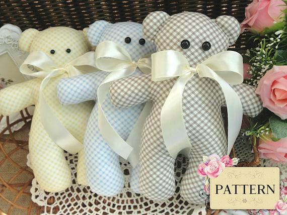 Sewing PATTERN Teddy Bear Stuffed Toy Pattern Baby Gift Soft