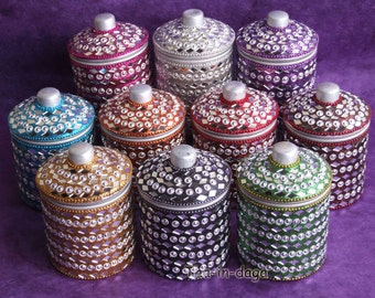 10 boxes Indian Bollywood H = 11 cm 100% Indian craft glitter