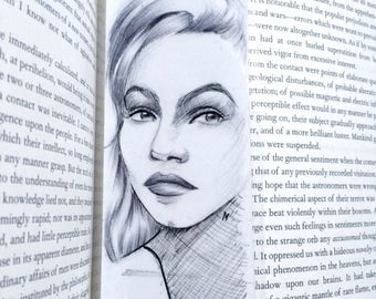 Handmade bookmark - illustration