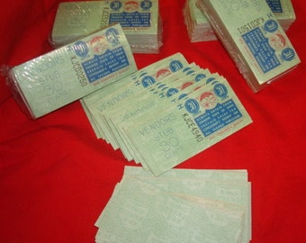 Over 200 Vintage Ohio 30 cent Vendors Sales Tax Stamp Full not used 5 sets available Art Craft Seal of Ohio State imprint on back