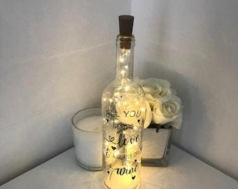 Personalised light up bottles