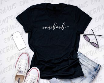 "Uniboober Shirt - ""HASHTAG #oneboob"" Womens Tee - Mastectomy Shirt - Chemo Care Package - Funny Sarcastic Cancer Quote - One Boob - Uniboob"