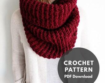 Quintessential Cowl Pattern/crochet pattern/scarf pattern/winter cowl