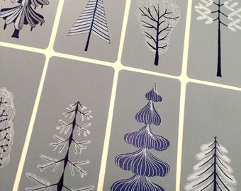 CHRISTMAS TREE card, Letterpress prints, christmas cards, holiday cards, tree cards, tree card, handmade card, contemporary holiday cards,
