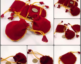 6 x 6 Cm. Small Velvet Drawstring Pouches Jewelry Wedding Gift Pouch Bags