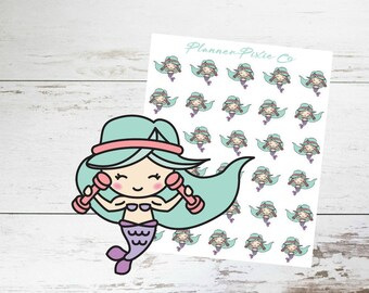 Mermaid Planner Stickers // Weight Lifting // Workout // 006