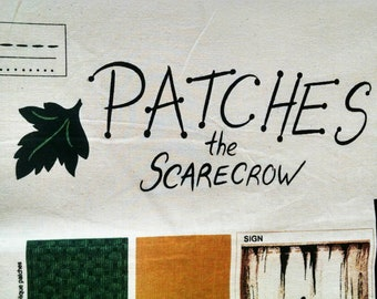 Patches the Scarecrow vintage fabric panel