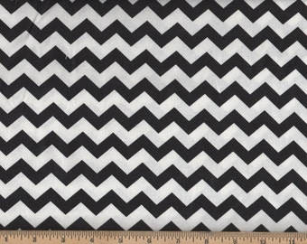 Chevron Cotton Fabric Black 100% Cotton Chevron Quilt Fabric By the Yard #430-4