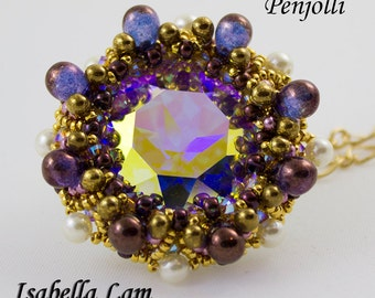 Penjolli Swarovski Pendant  PDF Beading tutorial for personal use only