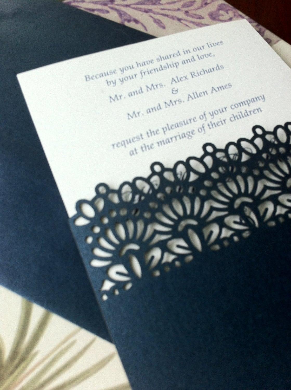 Laser Cut Wedding Invitations Die Cut Wedding Invitations