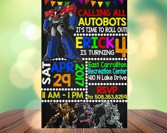 Transformers Birthday Invitation, Transformers Birthday, Transformers Birthday Party, Transformers Birthday, Transformers Birthday Invite