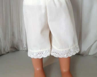 "Signature Collection - 6"" Ivory Below Knee Length Pantaloons - 18 Inch Doll Clothes - Fits American Girl Doll - 2517"