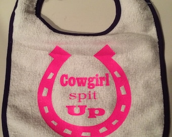 COWGIRL spit UP bib perfect for any cowgirl/boy baby in training