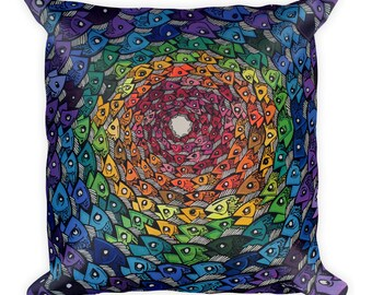 Rainbow Trout Square Pillow