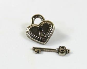 Lock studs, Key studs, Lock key earrings, Lock key jewelry