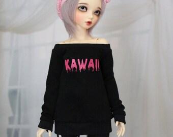 Minifee Kawaii Shirt Black, 1/4 Size Bjd Clothes