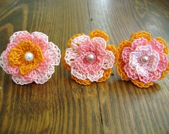 Ring-Pink and Orange Vegan Flower