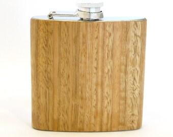 6oz Eucalyptus Wood Flask Limited Edition
