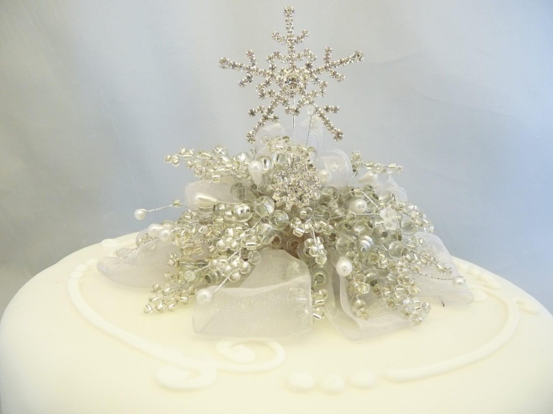 Snowflake cake decoration, Snowflake cake topper, Winter wedding ...